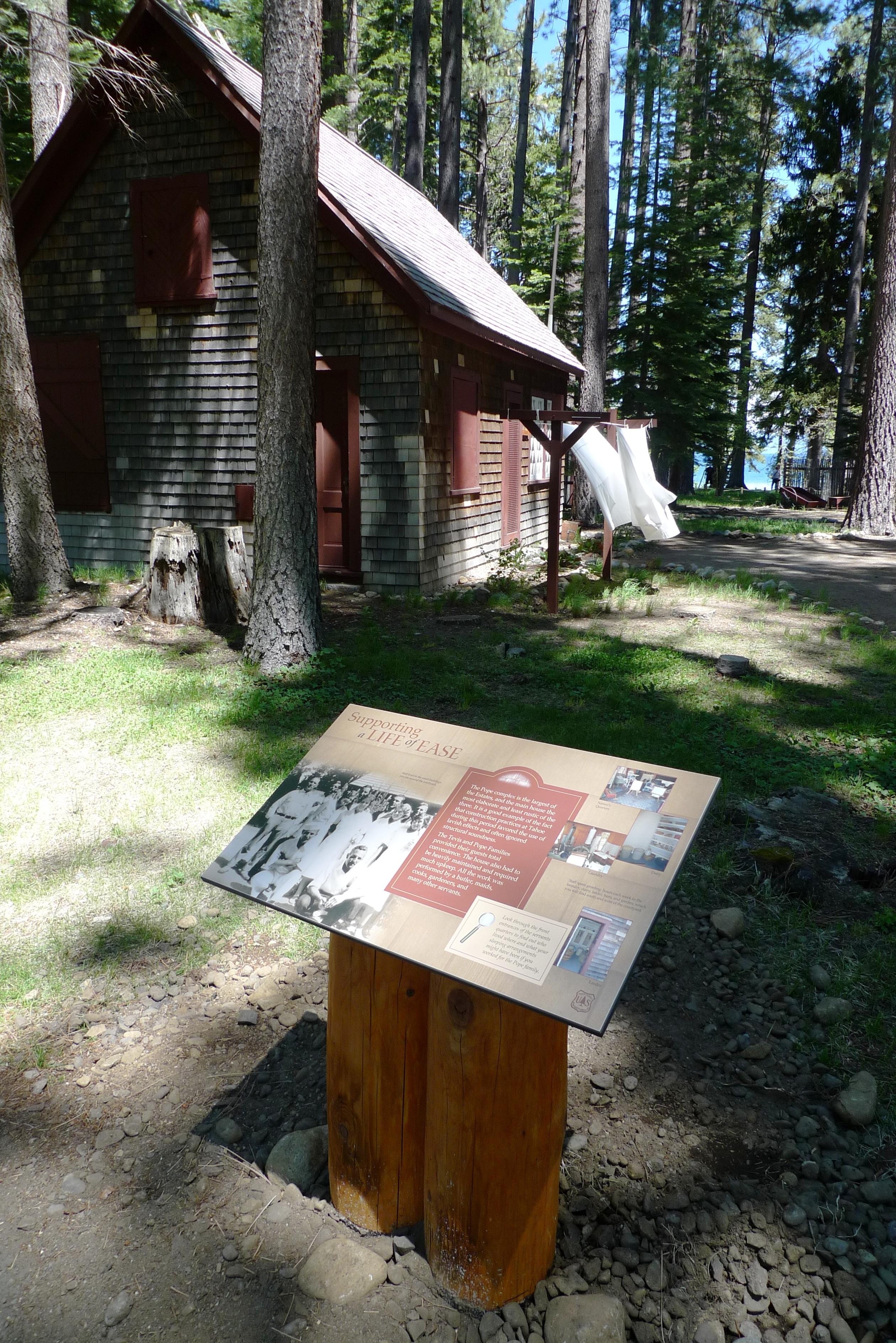 US FOREST SERVICE: Log Sign Post